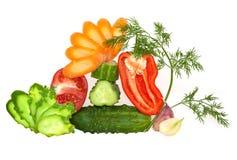 Coupez les légumes frais Images libres de droits