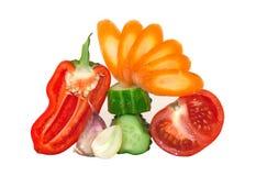 Coupez les légumes frais Photographie stock libre de droits