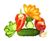 Coupez les légumes frais Photo stock