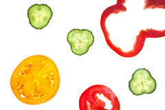 Coupez les légumes découpés en tranches crus Images stock