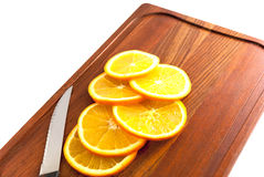 Coupez les oranges Photo libre de droits