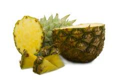 Coupez les parts d'ananas image stock