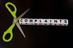 Coupez les plaintes Photographie stock