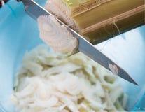 Coupez les tiges de banane Photo stock