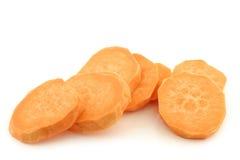 Coupez les tranches de patate douce Image stock