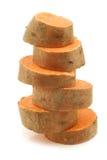 Coupez les tranches de patate douce Photographie stock