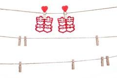 Coupez sur une ficelle, mot propice accrochant de mariage chinois, Cong Images stock