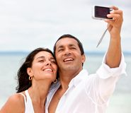Couple�s self portrait Stock Images
