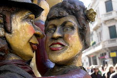 Sculpture of tango Dancers in barrio San Telmo, Bu Stock Photography