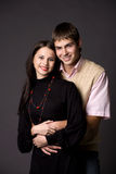 Couple. A photo of a young couple, embracing Royalty Free Stock Images