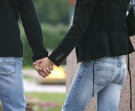Couple. Holding Hands - couple Stock Image