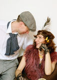 Couple in 1920s Style Royalty Free Stock Photos