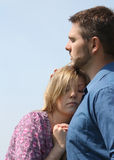 Couple. Close up of a young couple royalty free stock photography