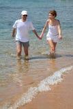 Couple. Man and women on beach stock photo