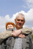 Couple. Of woman and man 60 y.o. 2 Royalty Free Stock Photo