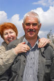 Couple. Of woman and man 60 y.o Stock Image