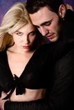 Couple. Young couple in hug, studio shot Royalty Free Stock Photography