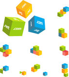 Couple 3d cubes. Vector set royalty free illustration
