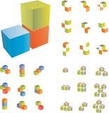 Couple 3d cubes. Vector set Stock Image