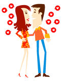 Couple. In Love stock illustration