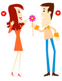 Couple. In Love royalty free illustration