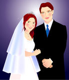 Couple. A illustration for wedding couple Royalty Free Stock Image