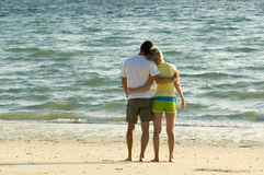Couple. Young couple on the beach Royalty Free Stock Image