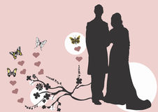 Couple. Illustration of a couple Stock Photography