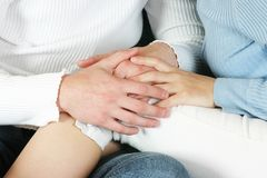 Couple 7. Man and woman holding hands stock image