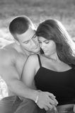Couple. Brunette Couple Sharing a Moment Royalty Free Stock Image