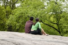 Couple. A couple enjoing nice spring day in the park royalty free stock photography