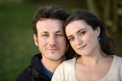 Couple. A sweet couple enjoying life outdoors royalty free stock image