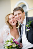 Couple. On the image there is bride and bridegroom royalty free stock photos