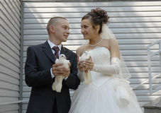 Couple. With white doves Royalty Free Stock Photo