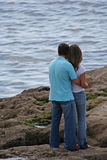 Couple. Look the sea Stock Photography