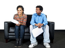 Couple of actors Stock Photography
