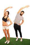 Couple aerobics Stock Image