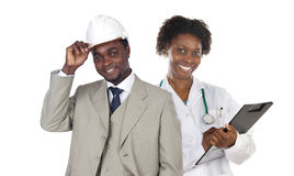 Couple of african workers Stock Image