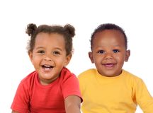 Couple of african children Royalty Free Stock Photo