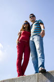 Couple against the sky Royalty Free Stock Photos