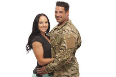Couple against white background Royalty Free Stock Image
