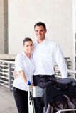 Couple at airport Stock Image