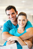 Couple at airport Royalty Free Stock Photo