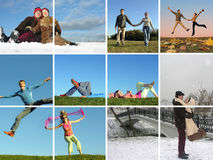 Couple all around year Stock Image