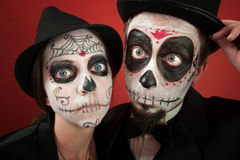 Couple on All Souls Day Stock Image