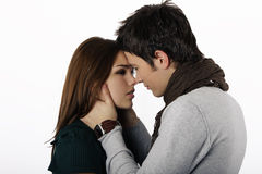 Couple Almost Kissing Stock Photography