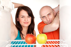 Couple with apples Royalty Free Stock Images