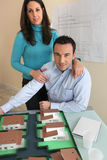 Couple in architect firm Stock Images