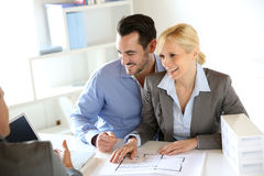 Couple in architect office Stock Photography