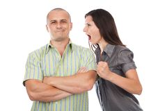 Couple arguing Stock Photography